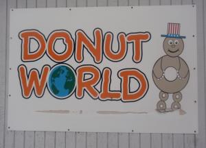 donut world sign